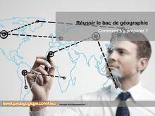 Fiches de révision bac géographie