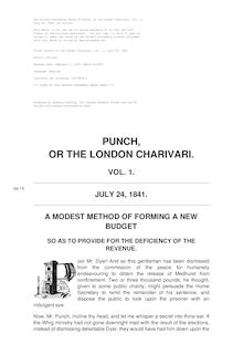 Punch, or the London Charivari, Volume 1, July 24, 1841