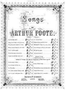 Partition No.1: It was a Lover et his Lass, 3 chansons, Foote, Arthur