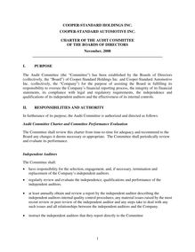 Audit Committee Charter 110408