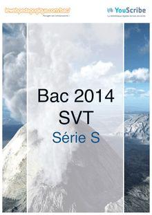 Corrigé bac 2014 - Série S - SVT (obligatoire)
