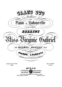 Partition de piano (B/W), Grand Duo Brillant on motifs of Bellini, Op.16
