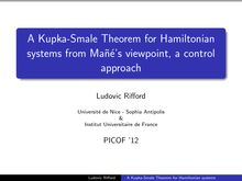 A Kupka Smale Theorem for Hamiltonian systems from Man˜e