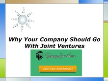 Why Your Company Should Go With Joint Ventures