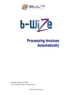 Invoice Processing and Automated Data Capture - 2005