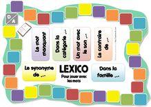 Jeux fabriqués – Lexico, jeu de vocabulaire pour CE1 - Le plateau de jeu