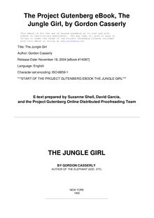 The Jungle Girl