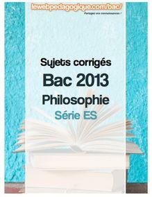 Bac 2013 corrigé philosophie série ES sujet 1 Que devons-nous à l'État ?