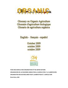 Trilingual glossary on organic agriculture