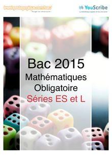 Corrigé - Bac 2015 - Maths - ES-L