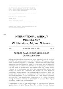 International Weekly Miscellany — Volume 1, No. 3, July 15, 1850