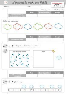 Evaluations de fin de période – Mathématiques CP - Période 3 Angel Eval maths P3