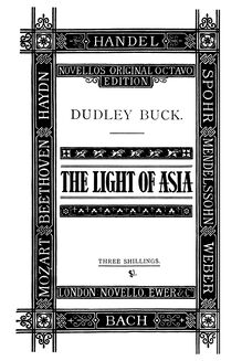 Partition Cover Page, pour Light of Asia, Buck, Dudley