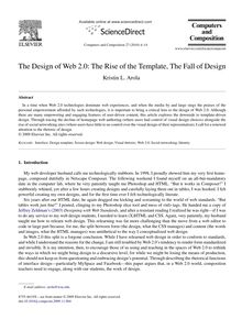 The Design of Web 2.0: The Rise of the Template, The Fall of Design