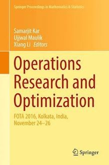 Operations Research and Optimization