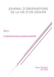 EJE : DC3  Communication professionnelle JOG