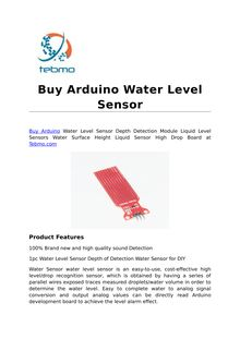 Buy Arduino Water Level Sensor
