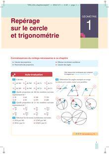 Chapitre G5 2nde : Repérage sur le cercle et trigonométrie