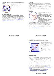 Fiche de révision - Géométrie 4ème (2)