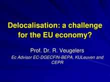 Delocalisation: Which challenges for the EU economy?