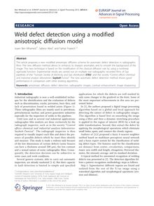 Weld defect detection using a modified anisotropic diffusion model