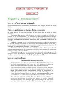 Cours sur le roman policier - français 5e