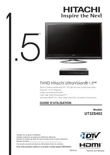 Notice TV LCD Hitachi  UT32S402