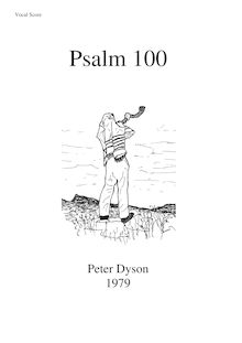 Partition vocal score, Psalm 100, Dyson, Peter