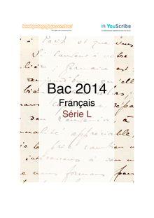 Corrigé bac 2014 première - Série L - Français