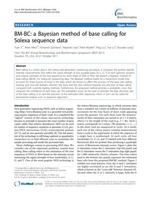BM-BC: a Bayesian method of base calling for Solexa sequence data