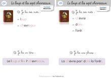 Lecture / Littérature CP-CE1 : Le loup et les 7 chevreaux - Cahier de lecture