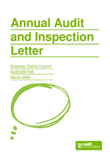 2007-2008 - Annual Audit and Inspection Letter -  Shepway DC v1.0