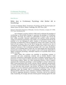 Buller does to Evolutionary Psychology what Kitcher did to Sociobiology