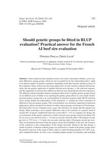 Should genetic groups be fitted in BLUP evaluation? Practical answer for the French AI beef sire evaluation