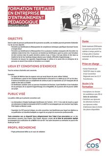 Formation tertiaire EEP - Parcours courts -