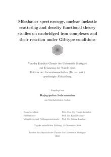 Mössbauer spectroscopy, nuclear inelastic scattering and density functional theory studies on oxobridged iron complexes and their reaction under Gif-type conditions [Elektronische Ressource] / vorgelegt von Rajagopalan Subramanian