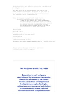 The Philippine Islands, 1493-1898—Volume 39 of 55 - Explorations by Early Navigators, Descriptions of the - Islands and Their Peoples, Their History and Records of - The Catholic Missions, As Related in Contemporaneous Books - and Manuscripts, Showing the Political, Economic, Commercial - and Religious Conditions of Those Islands from Their - Earliest Relations with European Nations to the Close of - the Nineteenth Century, Volume XXXIX: 1683-1690