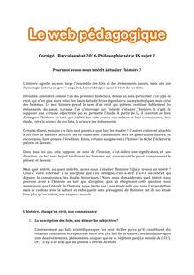 Baccalauréat Philosophie 2016 - Série ES - Sujet 2