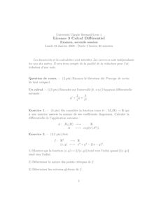 Universite Claude Bernard Lyon Licence Calcul Differentiel