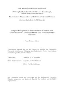 Surgical management of pancraniofacial synostosis and Kleeblattschädel [Elektronische Ressource] : analysis of 19 own cases and review of the literature / Frank Reinhard Gräwe