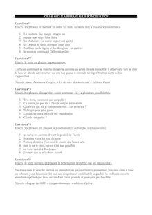 Grammaire française : exercices de révision