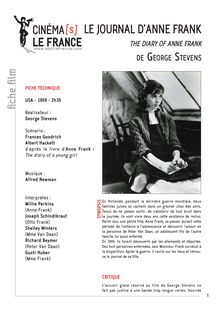 Le Journal d'Anne Frank de Stevens George