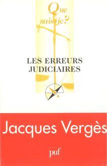 Les erreurs judiciaires de Jacques Verges - fiche descriptive