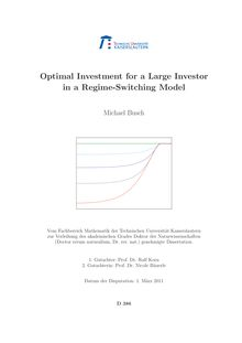 Optimal investment for a large investor in a regime-switching model [Elektronische Ressource] / Michael Busch