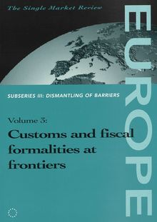 Customs and fiscal formalities at frontiers