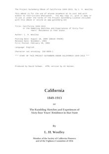 California, 1849-1913; or, the rambling sketches and experiences of sixty-four years