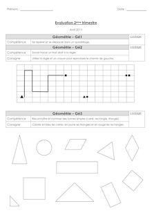 Evaluation - Géométrie CP
