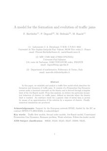 A model for the formation and evolution of traffic jams F Berthelin P Degond M Delitala M Rascle