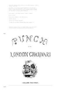 Punch, or the London Charivari, Volume 1, Complete