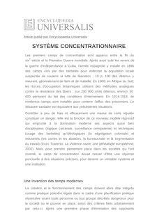 Définition et synonyme de : SYSTÈME CONCENTRATIONNAIRE - Philippe MESNARD